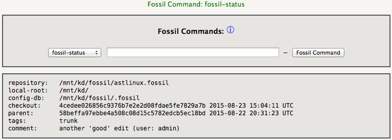 Fossil Commands