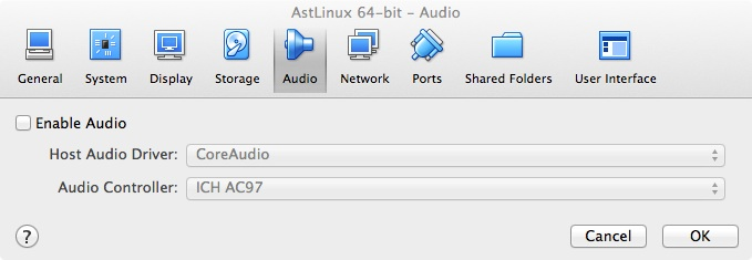 Disable Audio OS