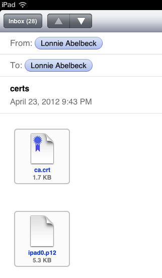 iOS Certifficates Email