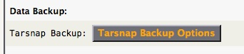 Tarsnap Backup Options