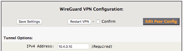 WireGuard VPN Initial Config